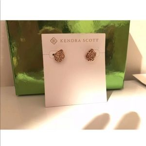 Kendra Scott Tessa Rose Gold Stud Earrings